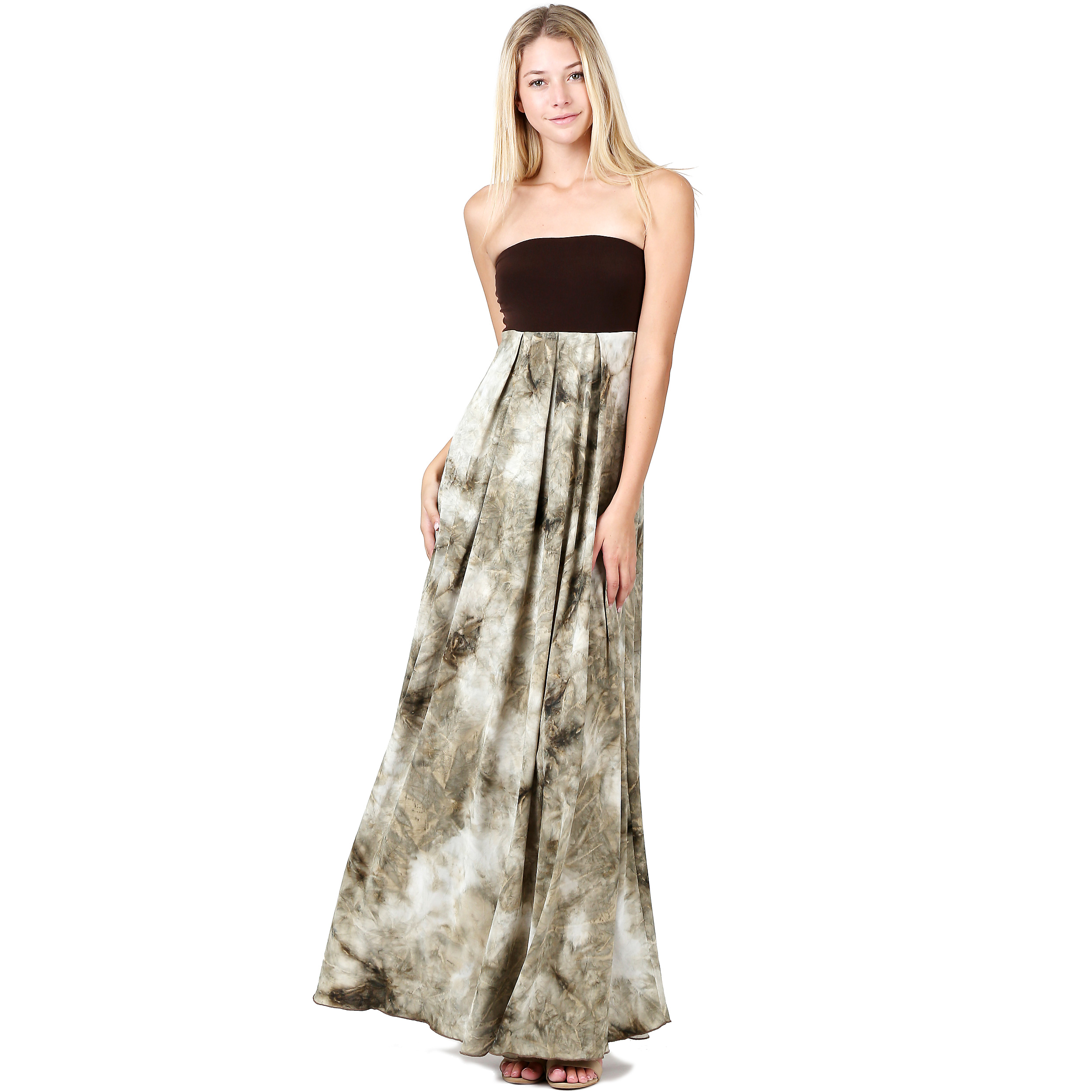 daeea6b3ee Evanese Women s Cocktail Strapless Tube Tie dye Print Maxi Long Dress is a  sassy addition to your closet. This long dress features contrast strapless  tube ...
